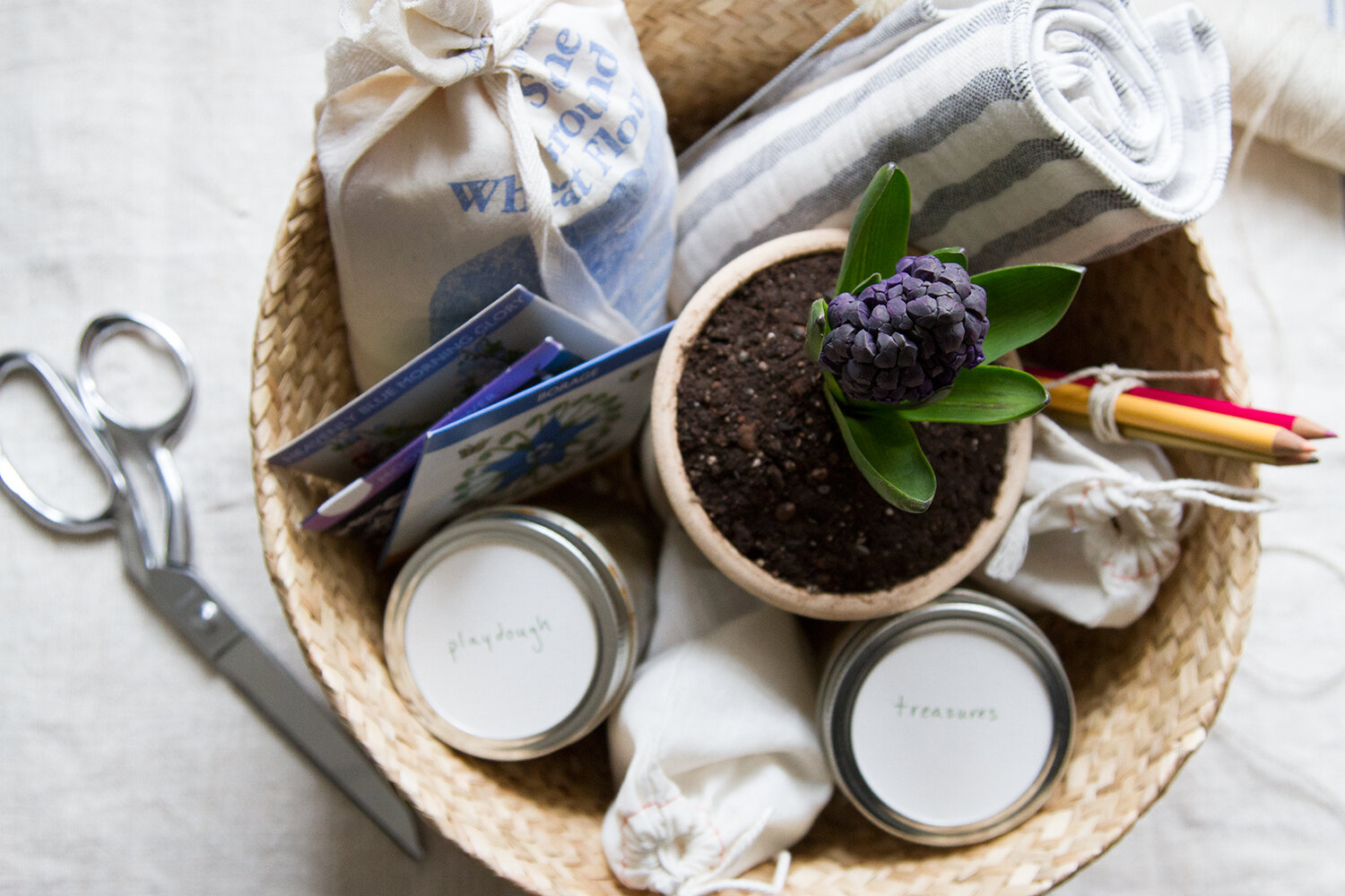 clutter-free easter basket | reading my tea leaves