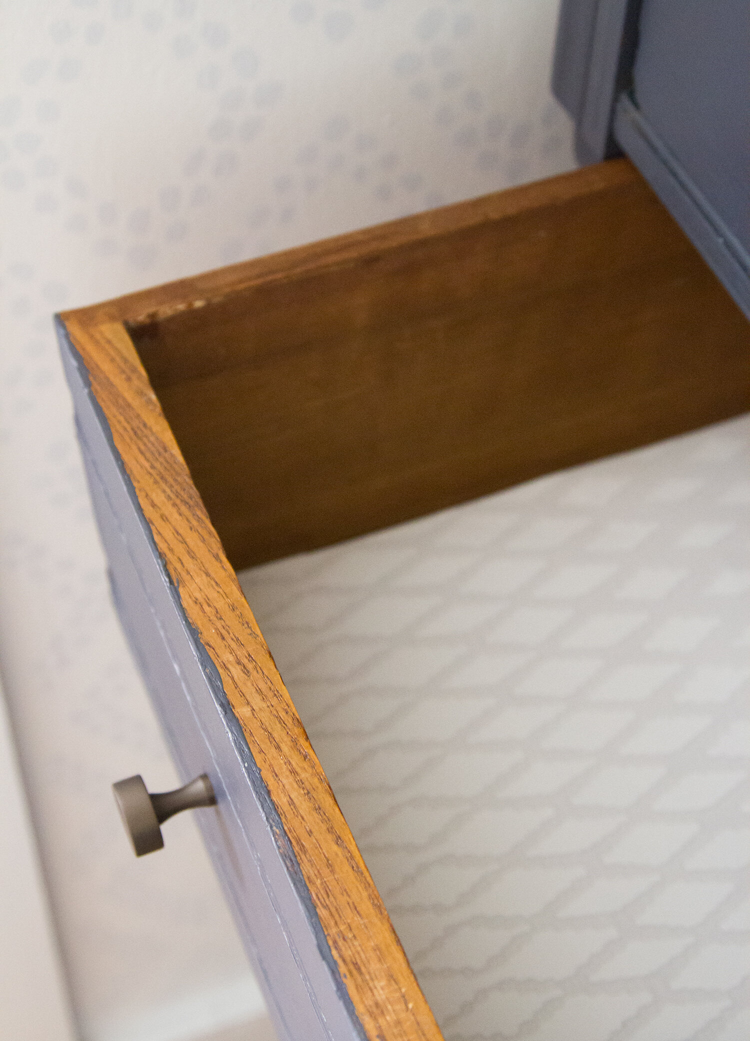 dresser drawers in a tiny apartment | reading my tea leaves